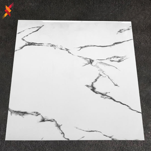 Commercio all'ingrosso full body marmo look bianco carrelage porcelanto lucido gres porcellanato smaltato di ceramica pavimento di piastrelle 600x600