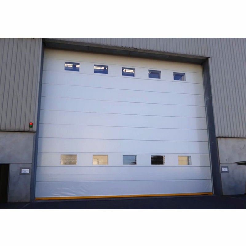 Customized steel lifting sectional industrial door for hangar