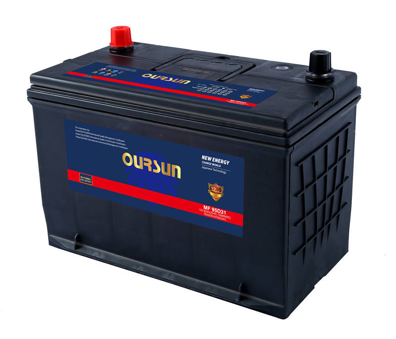 OURSUN 95D31 12V 80AH hot sale 12volt car battery