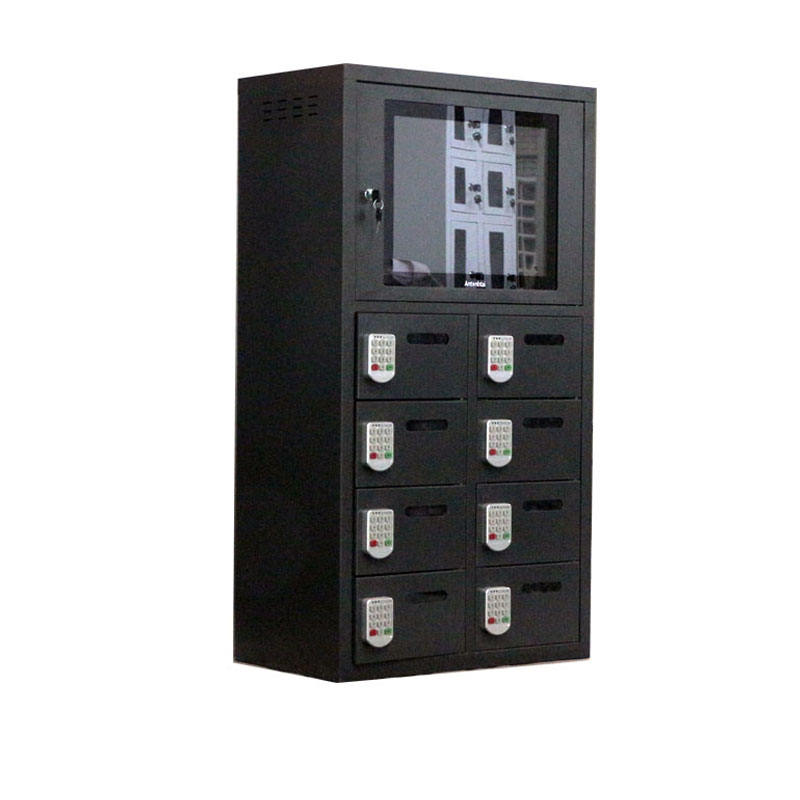 17inch LCD player charging locker box for public place