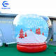 Outdoor clear bubble tent large inflatable snow globe with blowing snow christmas inflatable decorations for sale