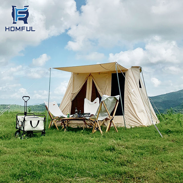 HOMFUL Waterproof Spring Tent Canvas Cotton Tent 2 Person Camping Tent Outdoor販売のため