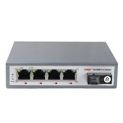 5-port 250W high poe Upoe PTZ camera 10/100M bt PoE Fiber Switch