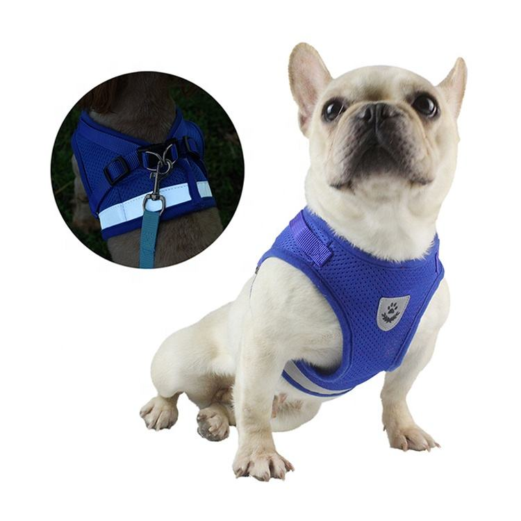 All Weather Mesh Adjustable Pet Cat Vest Harnesses Reflective Cat Harness and Leash Set for Walking