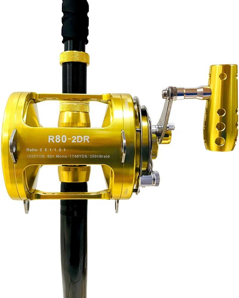 Reel Rod Fishing Combo Stainless Steel Main And Pinion Gears Speed Fishing Reel