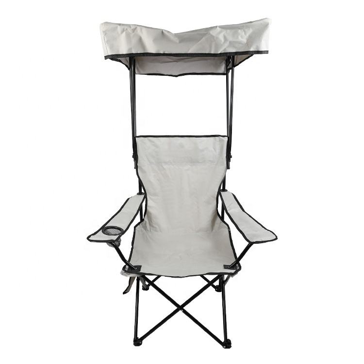 Summer Holiday Camping Holder Garden Chair Outdoor Portable Armrest Hiking Folding Beach Canopy Chair