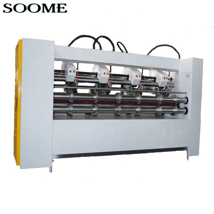 Electric Thin Blade Slitter Scorer Rotary Cutting Machine For Corrugated Line