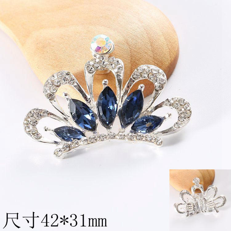 New innovative product alloy crown pendant crystal good quality charm phone accessories