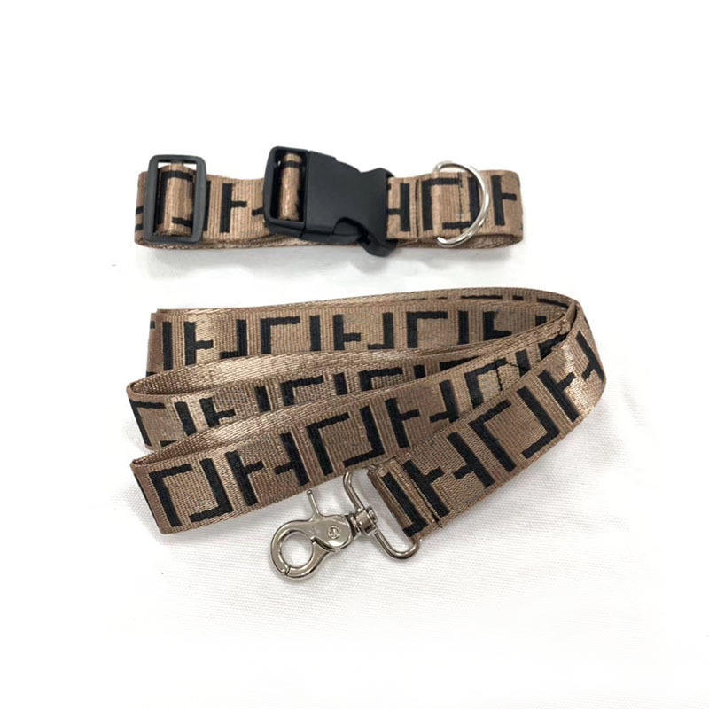 Factory direct fashion brand braid pet collar dog collar hauling leash harness set