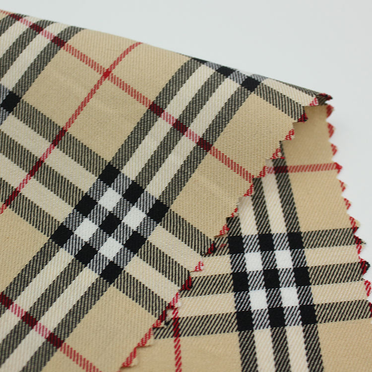 fashion stock 100% cotton plaid fabric yarn-dyed woven shirt dress fabric