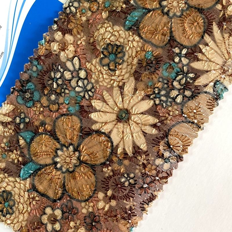 Printing flower surface lace fabric leather sheets for bows character faux leather good sell