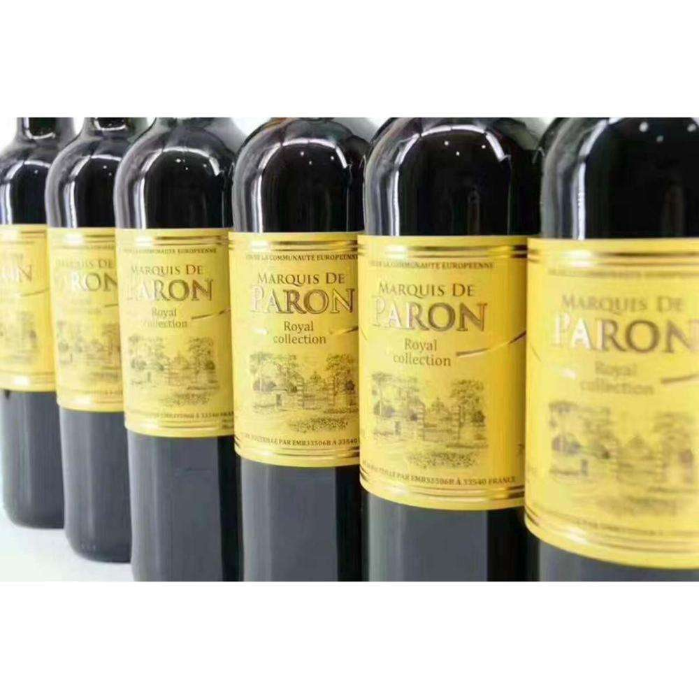 High Quality French Best Red Wine with 12.5% Alcohol Content
