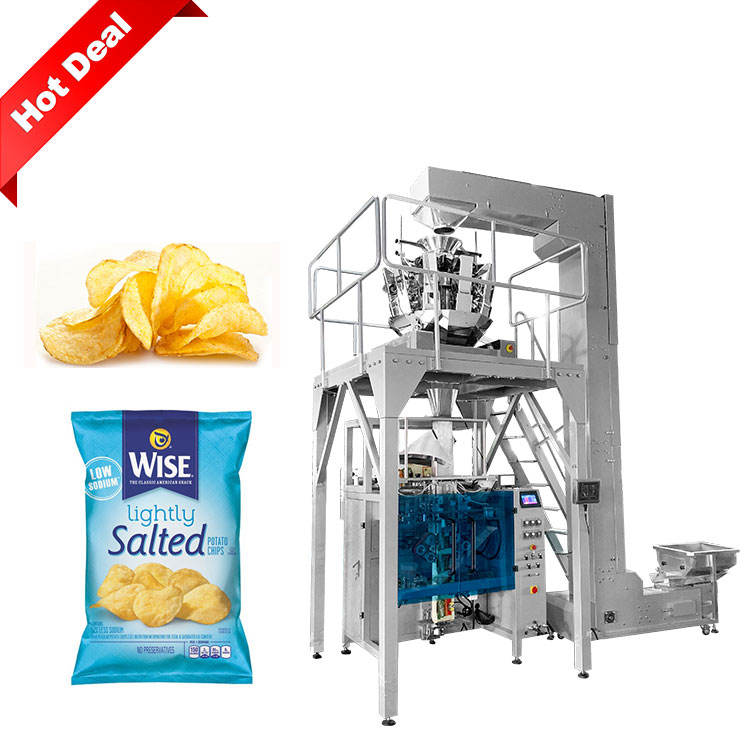 Automatic weighing chips packaging machine packaging for potato chips packing machine price