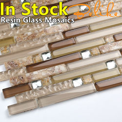 Pearl Resin Glass Mosaic Tiles Featured Wall Cladding Home Decor In Stock Penthouse Villas Design Vintage Backsplash