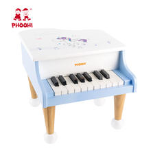 Children Musical Instrument Play White Piano Wooden Mini Piano Toy For Kids