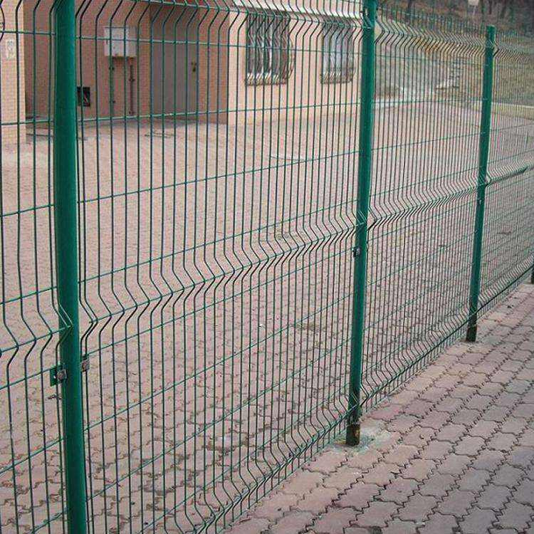 Rodent Proof Prevent Corrosion 3d Curved PVC Coated Welded Wire Mesh Fence for Playground Protection