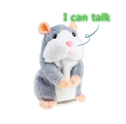 Free sample plush stuffed repeat hamster toy /high quality plush voice mouse toy for kids play/stuffed plush talk hamster toy