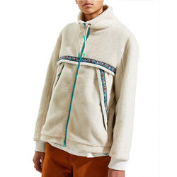 latest design mens color stripe outdoor fleece jackets with