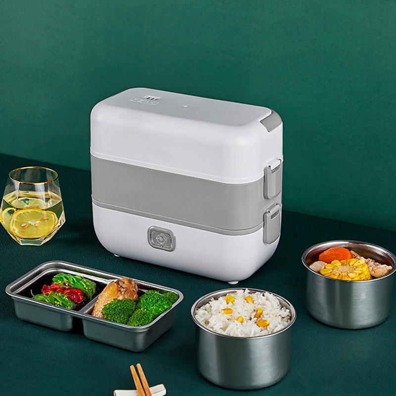Portable Airtight Self Heated, Bento Lunch Boxes Plug Electric Stainless Steel Keep Hot Food Warmer For Home Office/