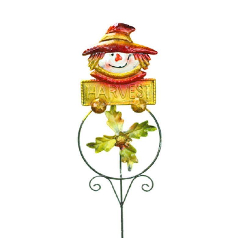Halloween Plunge Scarecrow Pumpkin Owl animal Iron Art Windmill Plunge Garden Balcony decor metal craft