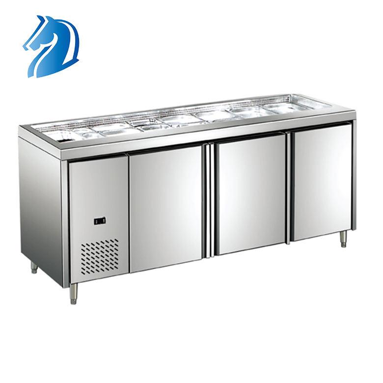 Panino Panino Tavolo di Lavoro di Raffreddamento Ad Aria Prep Congelatore Sottopiano Cucina Banco di Lavoro
