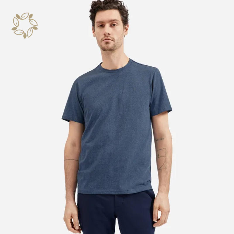 Hemp organic cotton Bamboo T-shirts Men's Plain Dyed short sleeves T-shirts Blank Hemp Man Short T Shirt comfortable clothes
