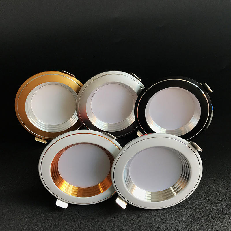 5W 7W 12W 알루미늄 제품 골드 COB Led 천장 recessed 통 컷 아웃 <span class=keywords><strong>70</strong></span>-80mm Recessed Anti Glare COB LED Downlights