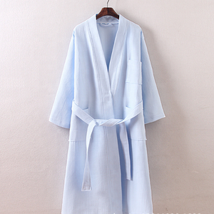 100% Cotton Men Waffle Terry Tắm Sang Trọng Robes