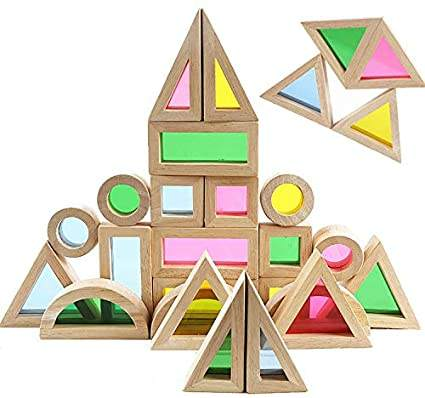 Wooden Building Blocks Rainbow Stacker Toys Wooden Blocks Stacking Game Building Blocks Construction toys