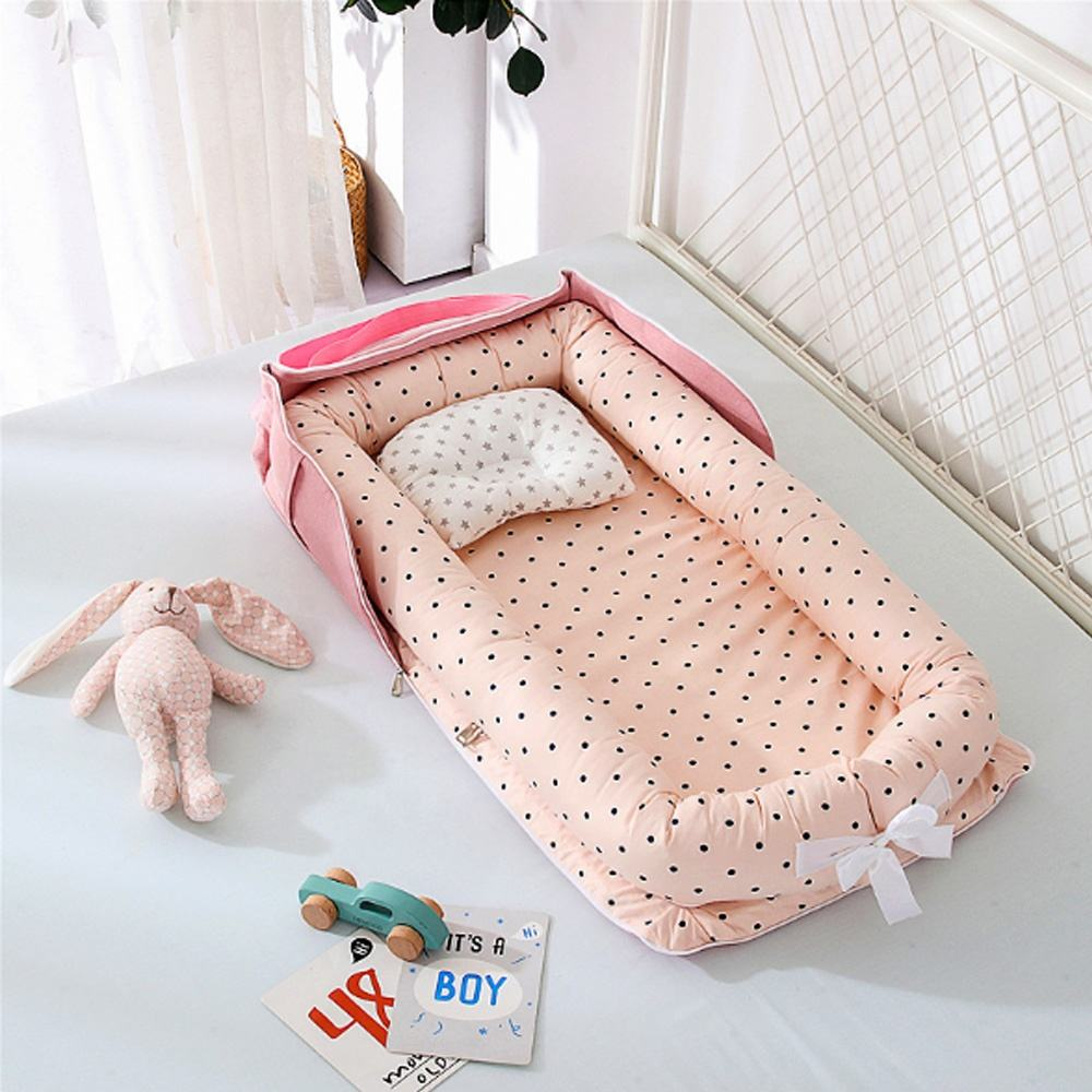 Special Design Premium Organic Cotton Removable Portable Infant Cot Toddler Nest Newborn Bed Baby Crib for Travel Sleeping
