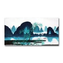 Home Decoration Beautiful Landscape Chinese Ink Painting Mountain Wall Art