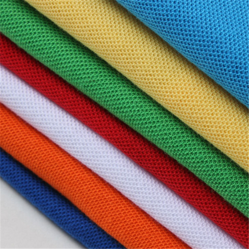 cotton knitted pique polo fabric