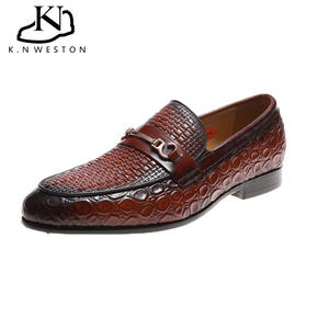 2020 New Full Grain Casual Stylish Summer Italian Dress Formal Genuine Leather Dress Shoes for men