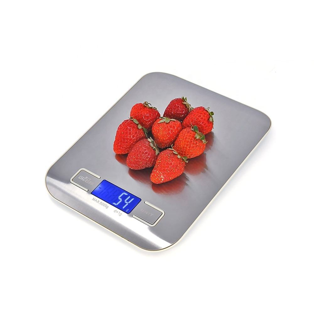 5kg house hold Digital Kitchen scale stainless steel food scale waterproof scale for meat