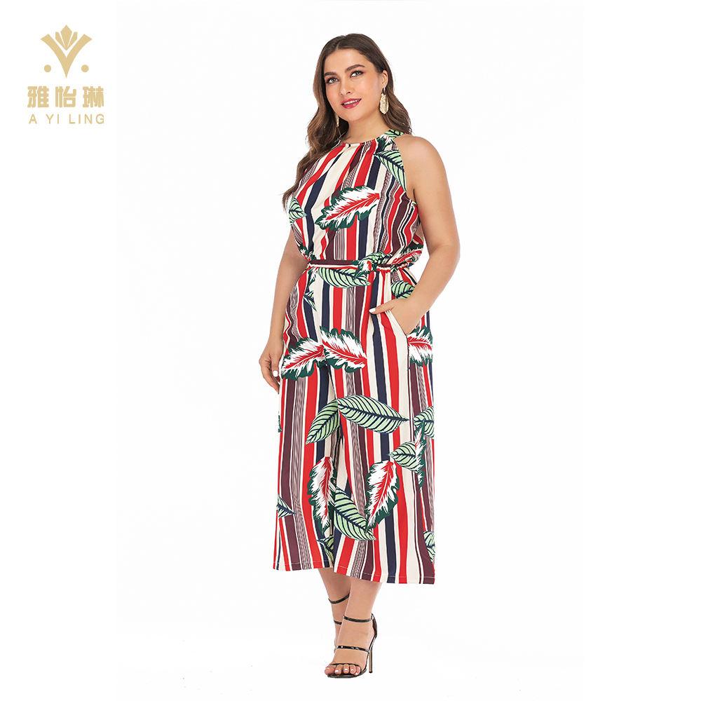 zhaoabao Womens Wide Leg Pants Jumpsuit Off Shoulder Sleeveless Ruffle Dress