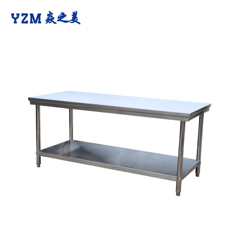 Customized Mobile Commercial Kitchen equipment three Tiers Stainless Steel food preparation Work Table