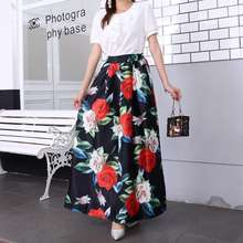 OEM 2019 Wholesale Flower Long Pencil Skirt