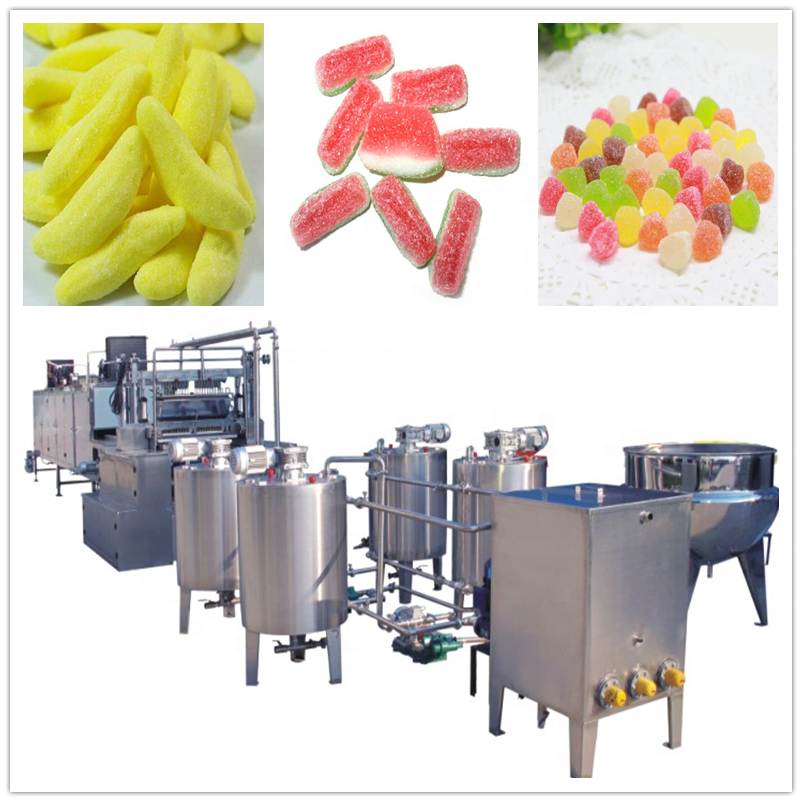 Fully-automatic jelly candy production line lollipop making machine with factory price
