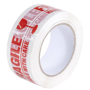 Custom 48mm 100m Roll Fragile Tape Packing Red Printed Tape