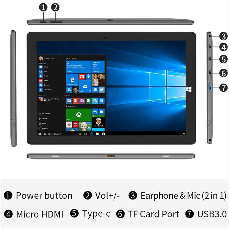 <span class=keywords><strong>Notebook</strong></span> Ponticello EZPad Pro8 11.6 inch1920 * 1080 IPS 4GB di RAM 64GB ROM <span class=keywords><strong>Touch</strong></span> Screen Tablet Con Tastiera ezbook Windows10 Tavoli
