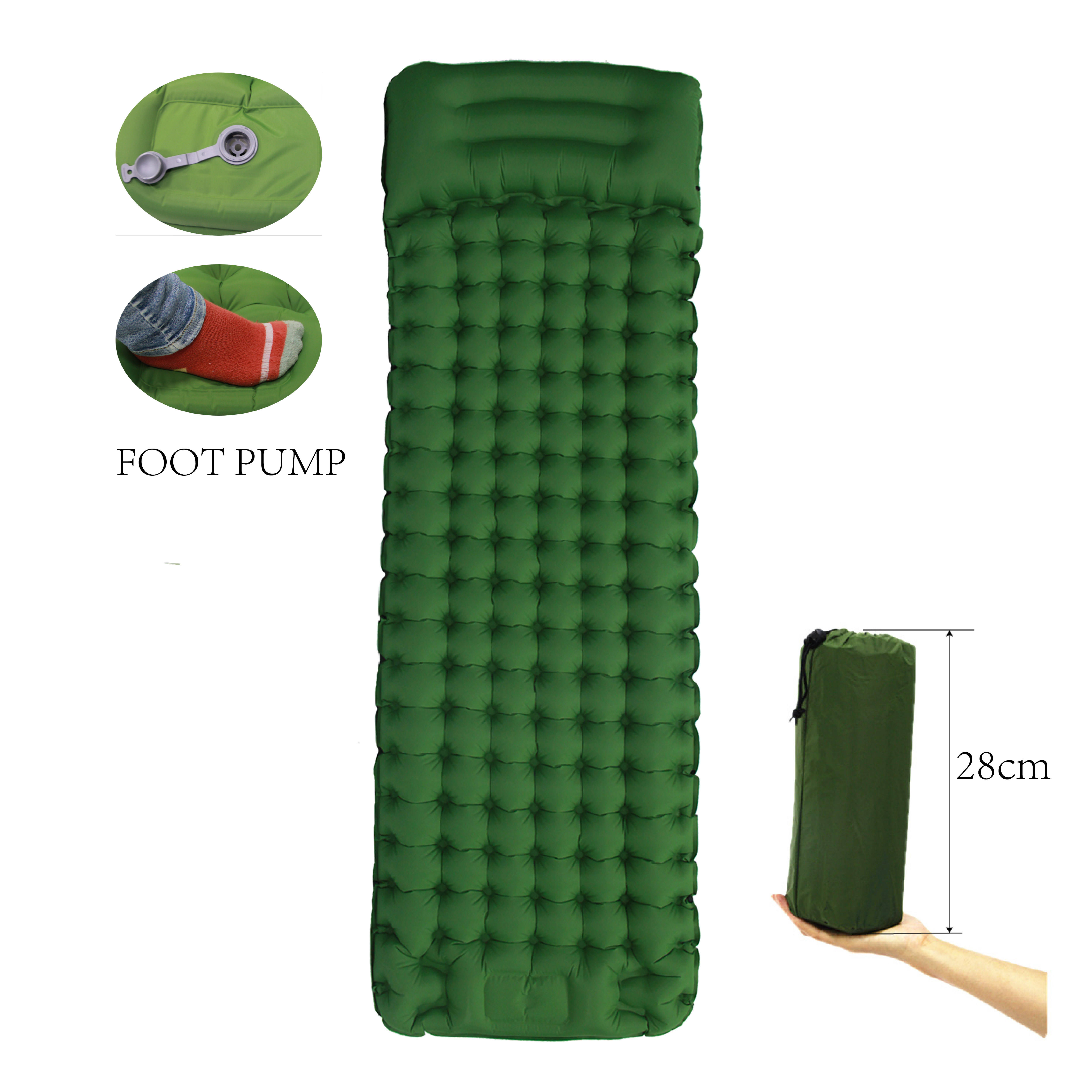 Super Quality Self Inflating Mat Camping Sleeping Pad With Built-In Pump Synthetic Sleeping Mats