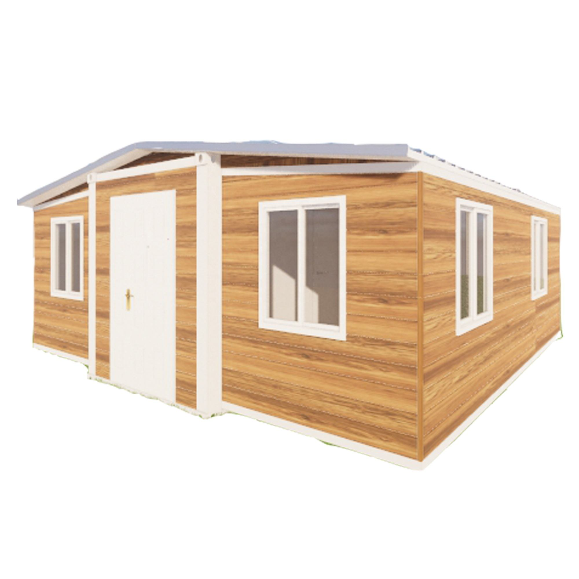 light yellow wood grain container home with 2 Bedrooms and kitchen and bathroom