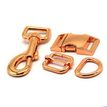 High Quality Metal Accessories D rings Adjustable Slide Quick Release Buckles Swivel Dog Hooks for Dog Collar