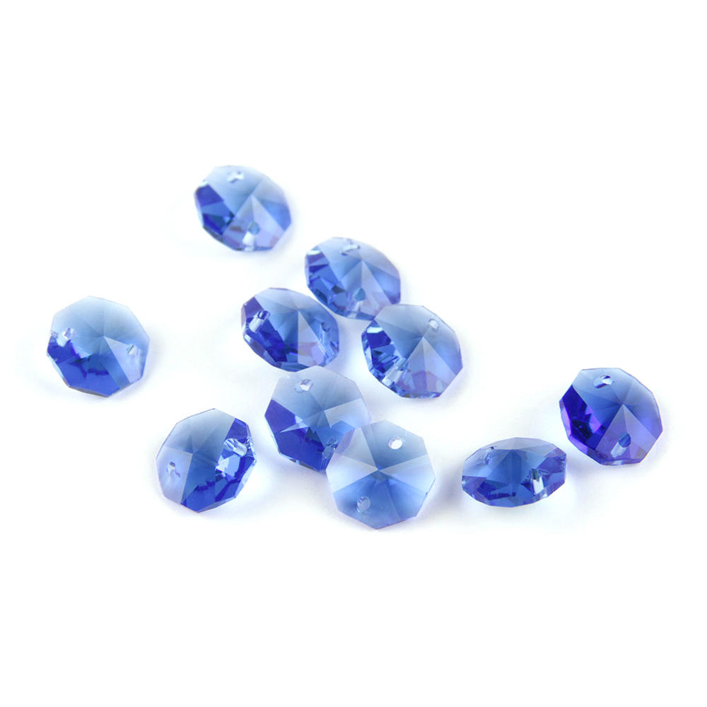 K9 Crystal 14Mm Lt Blue Two Holes Octagon Beads Octagon Crystal Beads