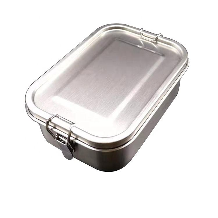 Hot Sale Germany Single Layer Leakproof Removable Moving Spacer Container Eco Friendly Custom Metal Lunch Box