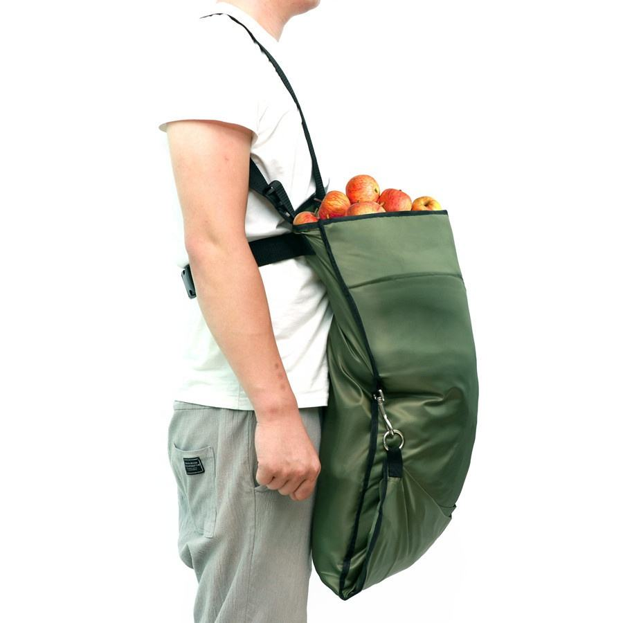 Large capacity Garden fruit picking apron Green Storage Pocket bag for Fruit Vegetable Harvest Apron
