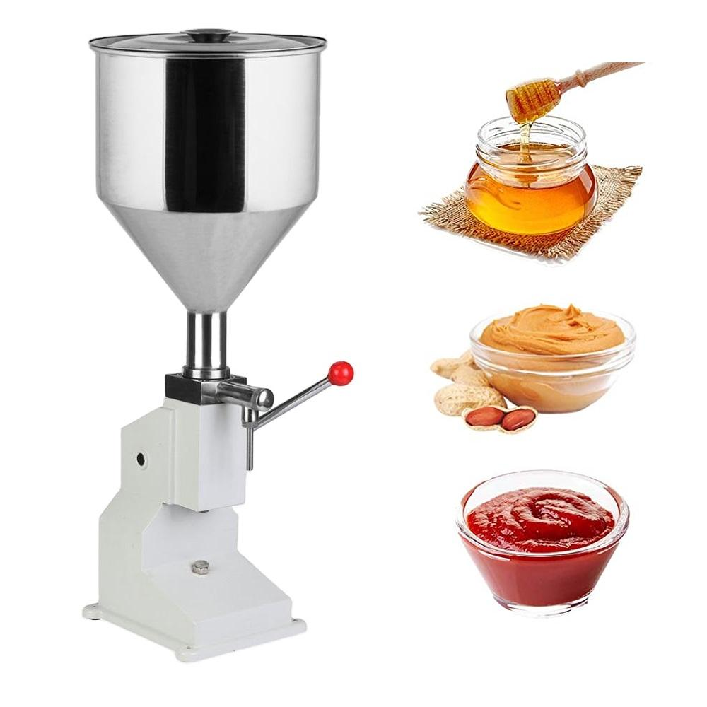 A03 Small 5-50ミリリットルManual Liquid Filling Machine、Stainless Steel Material、Paste Cosmetic Cream