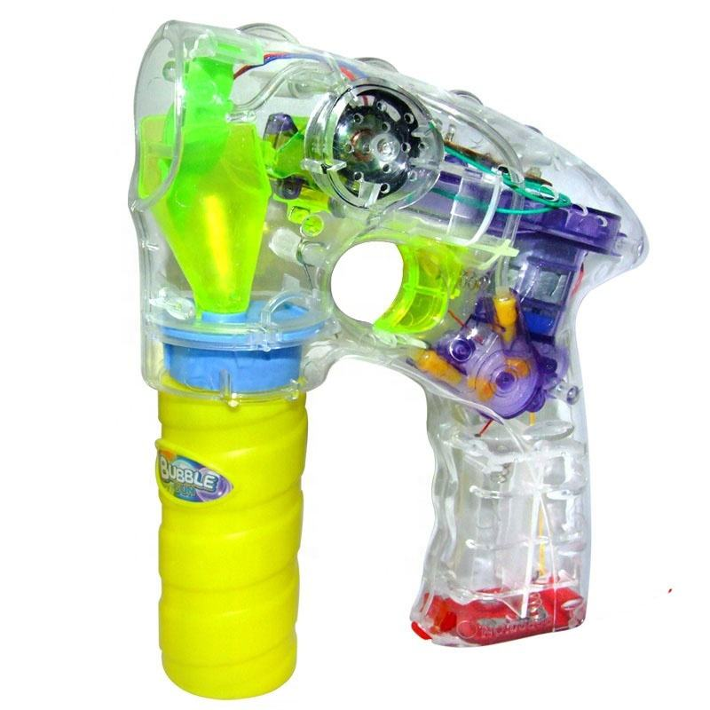 Super Power Knipperende Led Light Up Transparante Shooter Bubble Gun