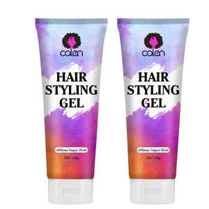 Private labeling Organic Shine Refined Mold Firm Hold Hair Styling Gel For Women and Men