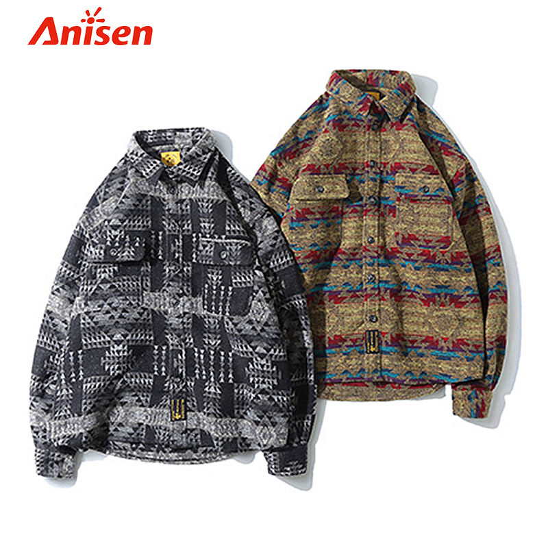 Fashion Fleece printing Men Warm Spring Men's Jackets Coats